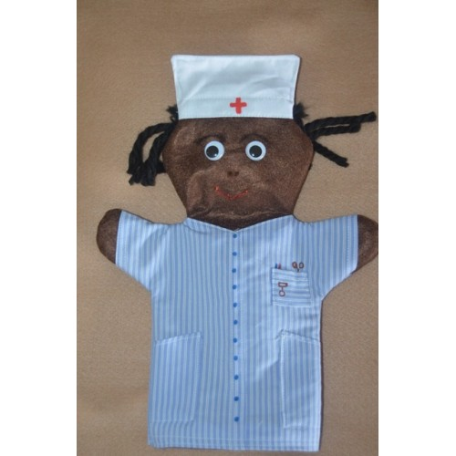 African Nurse Hand Puppet